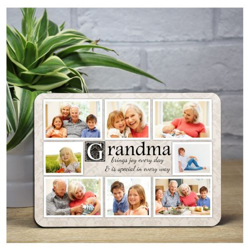 Personalised Grandma Sentiment Wood Photo Panel F25 - Any Age